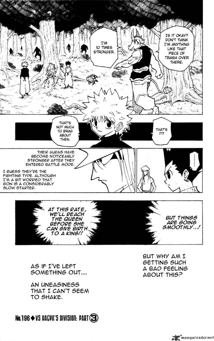 Hunter X Hunter Chapter 196  Online Free Manga Read Image 1