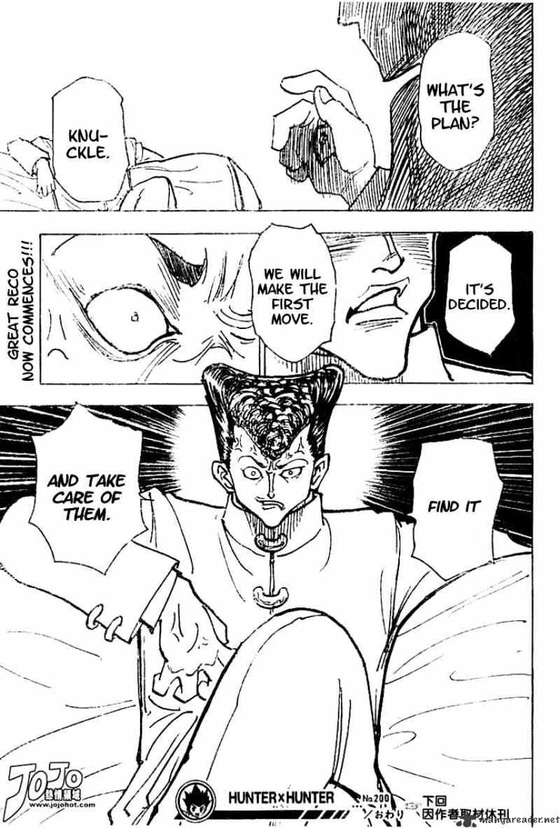 Hunter X Hunter Chapter 200  Online Free Manga Read Image 15