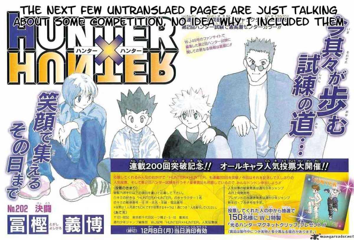 Hunter X Hunter Chapter 202  Online Free Manga Read Image 2