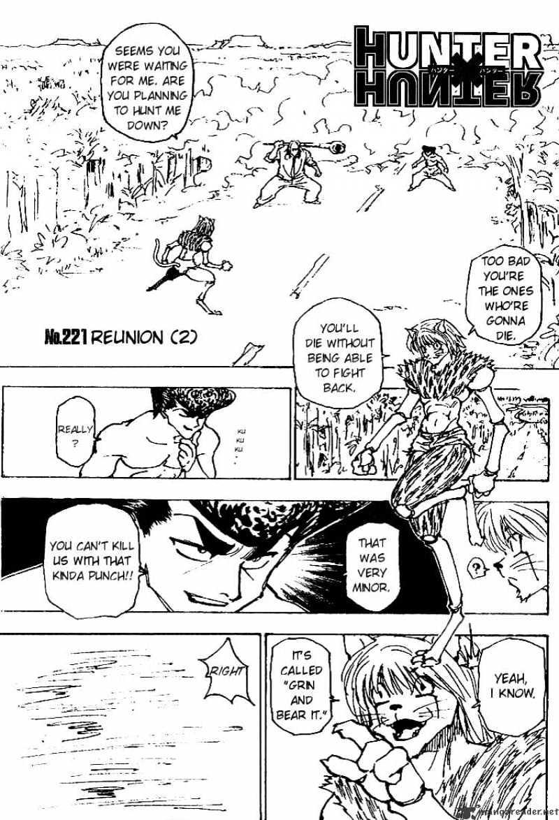 Hunter X Hunter Chapter 221  Online Free Manga Read Image 1
