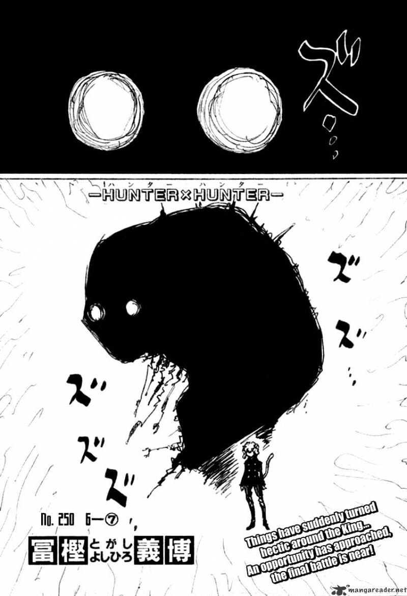 Hunter X Hunter Chapter 250  Online Free Manga Read Image 1