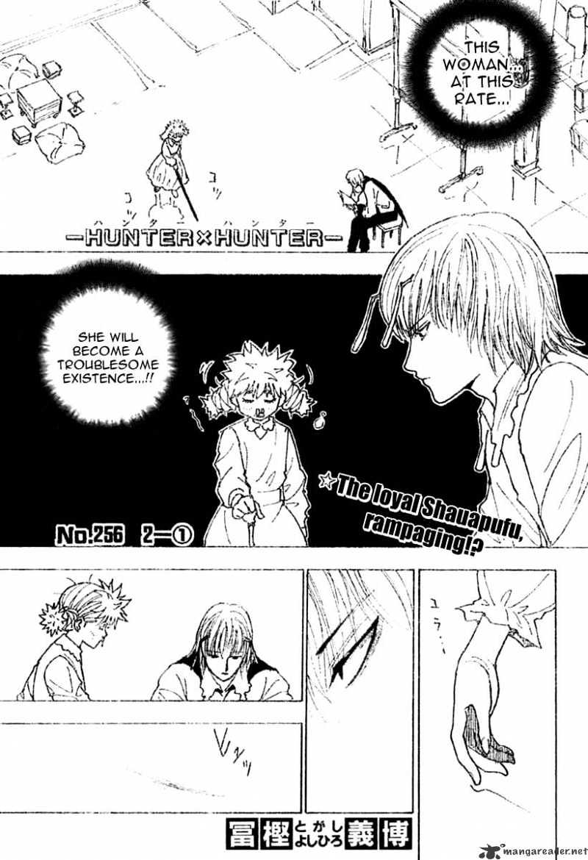 Hunter X Hunter Chapter 256  Online Free Manga Read Image 1
