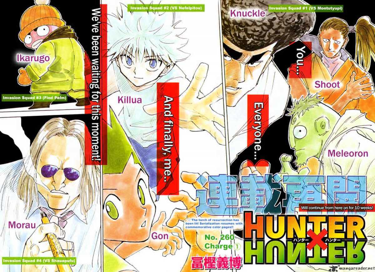 Hunter X Hunter Chapter 261  Online Free Manga Read Image 2