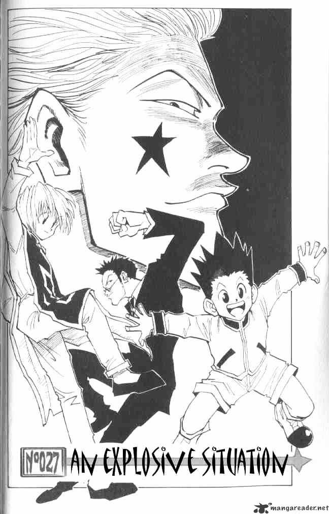 Hunter X Hunter Chapter 27  Online Free Manga Read Image 3