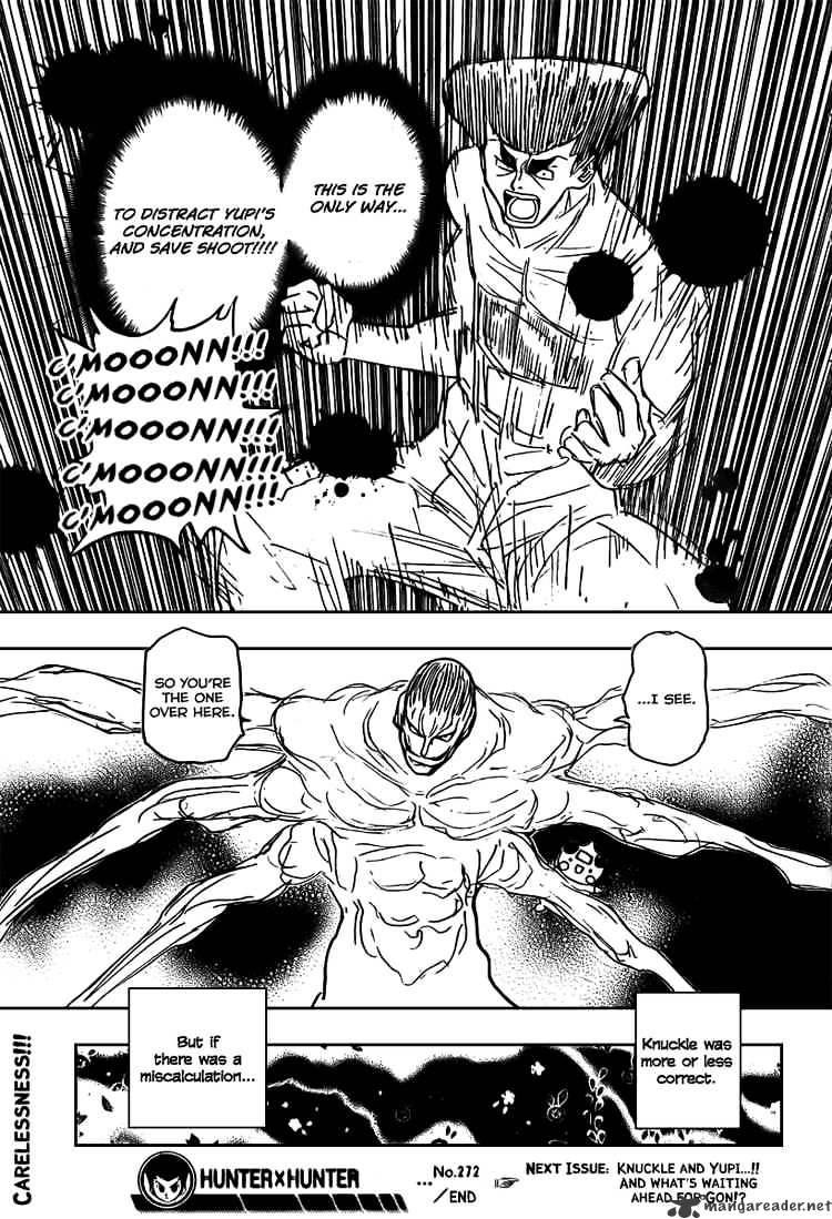 Hunter X Hunter Chapter 272  Online Free Manga Read Image 16