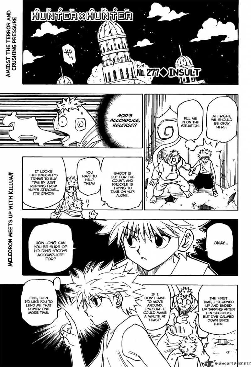 Hunter X Hunter Chapter 277  Online Free Manga Read Image 1