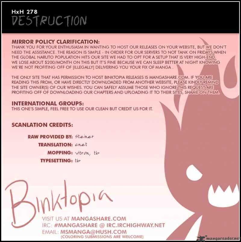 Hunter X Hunter Chapter 278  Online Free Manga Read Image 18