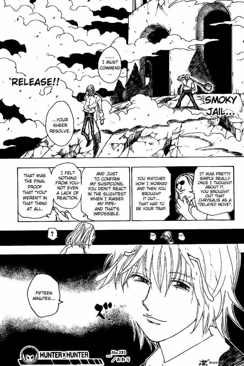 Hunter X Hunter Chapter 283  Online Free Manga Read Image 19