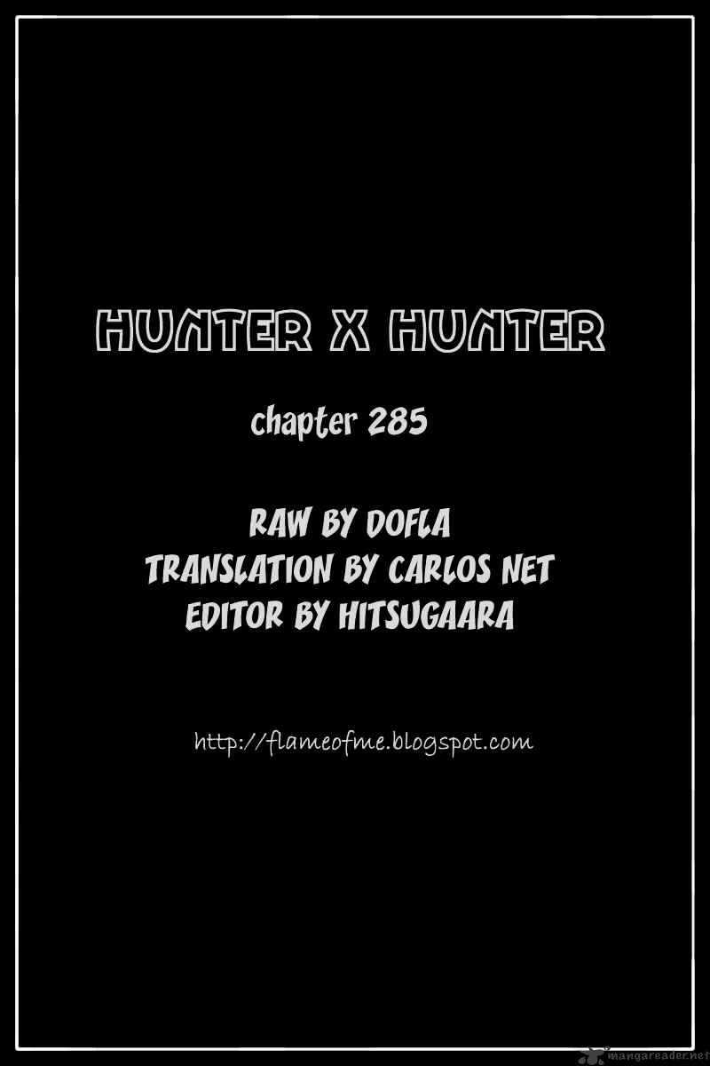 Hunter X Hunter Chapter 285  Online Free Manga Read Image 16