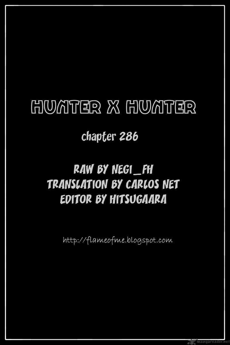 Hunter X Hunter Chapter 286  Online Free Manga Read Image 20