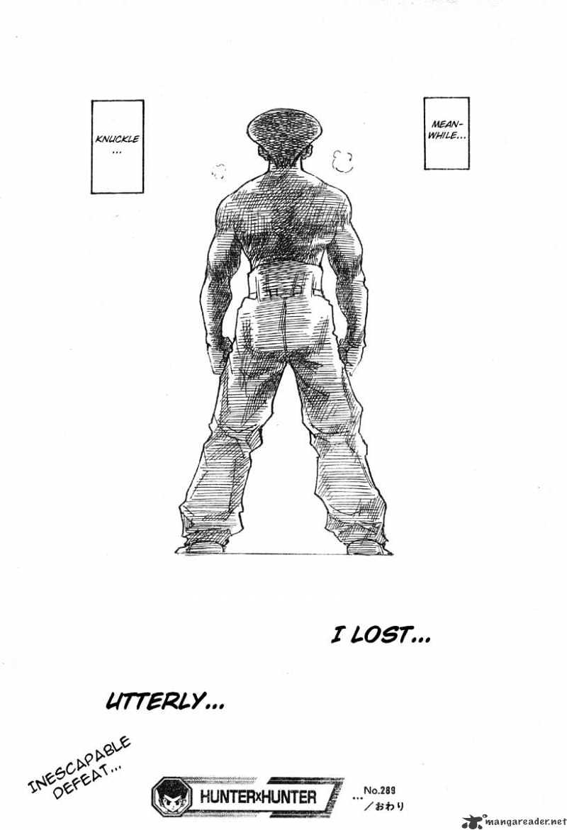 Hunter X Hunter Chapter 289  Online Free Manga Read Image 19