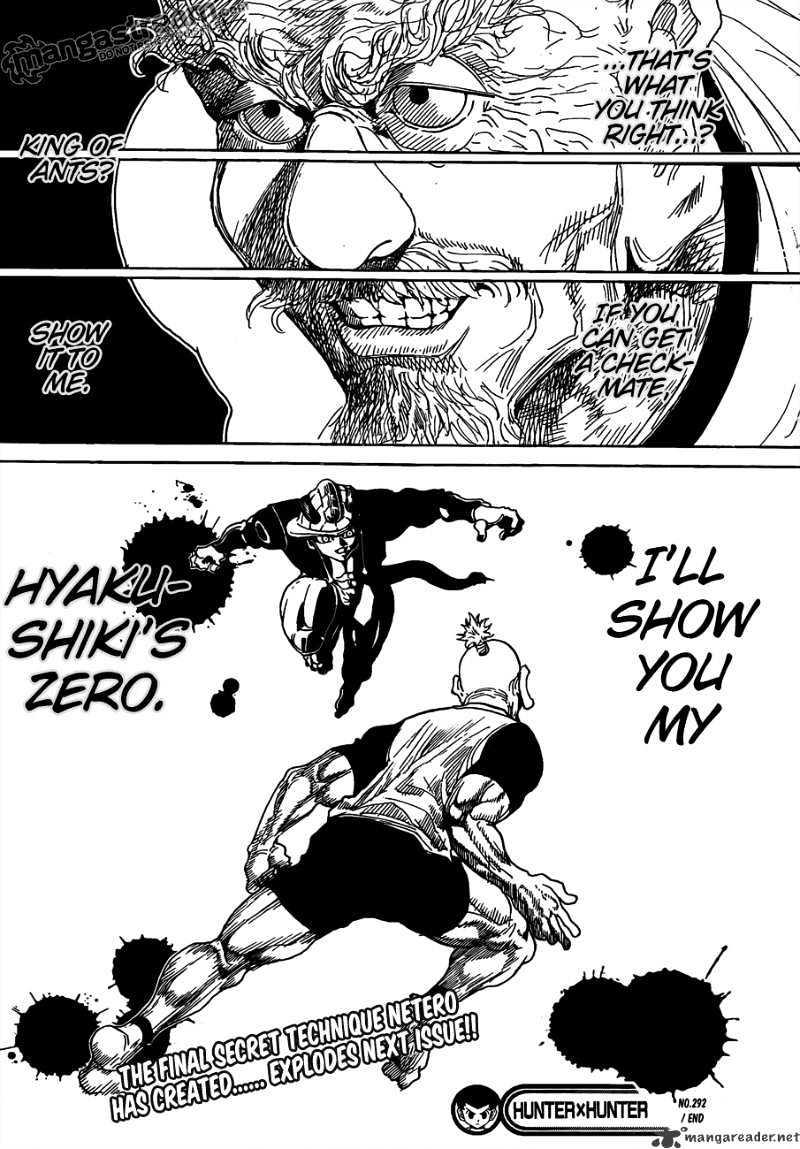 Hunter X Hunter Chapter 292  Online Free Manga Read Image 17