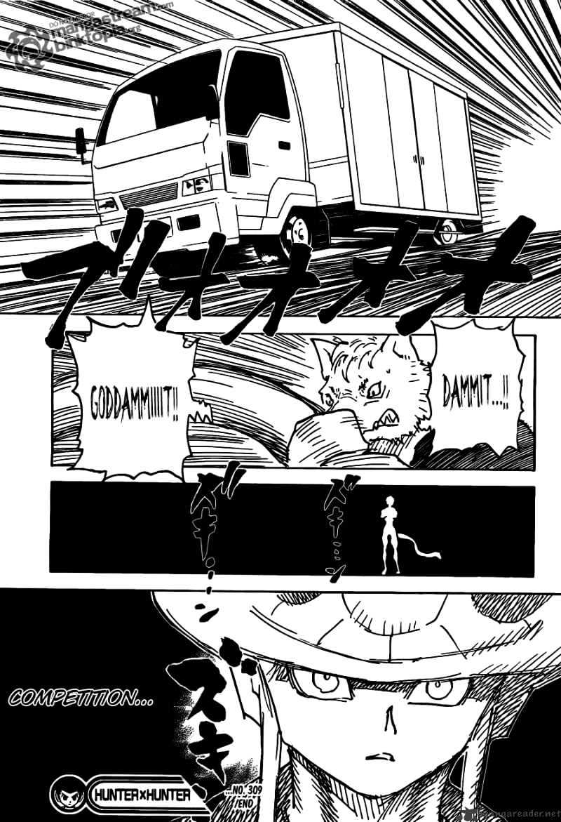 Hunter X Hunter Chapter 309  Online Free Manga Read Image 19