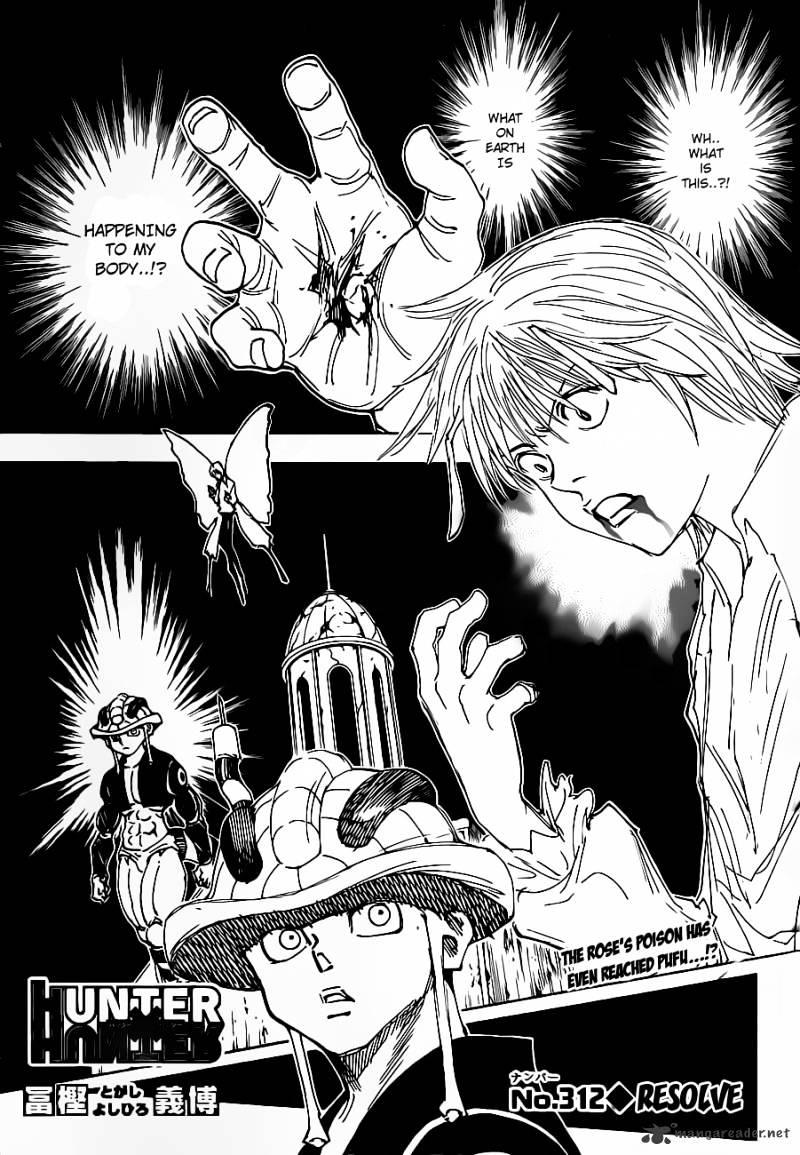 Hunter X Hunter Chapter 312  Online Free Manga Read Image 1