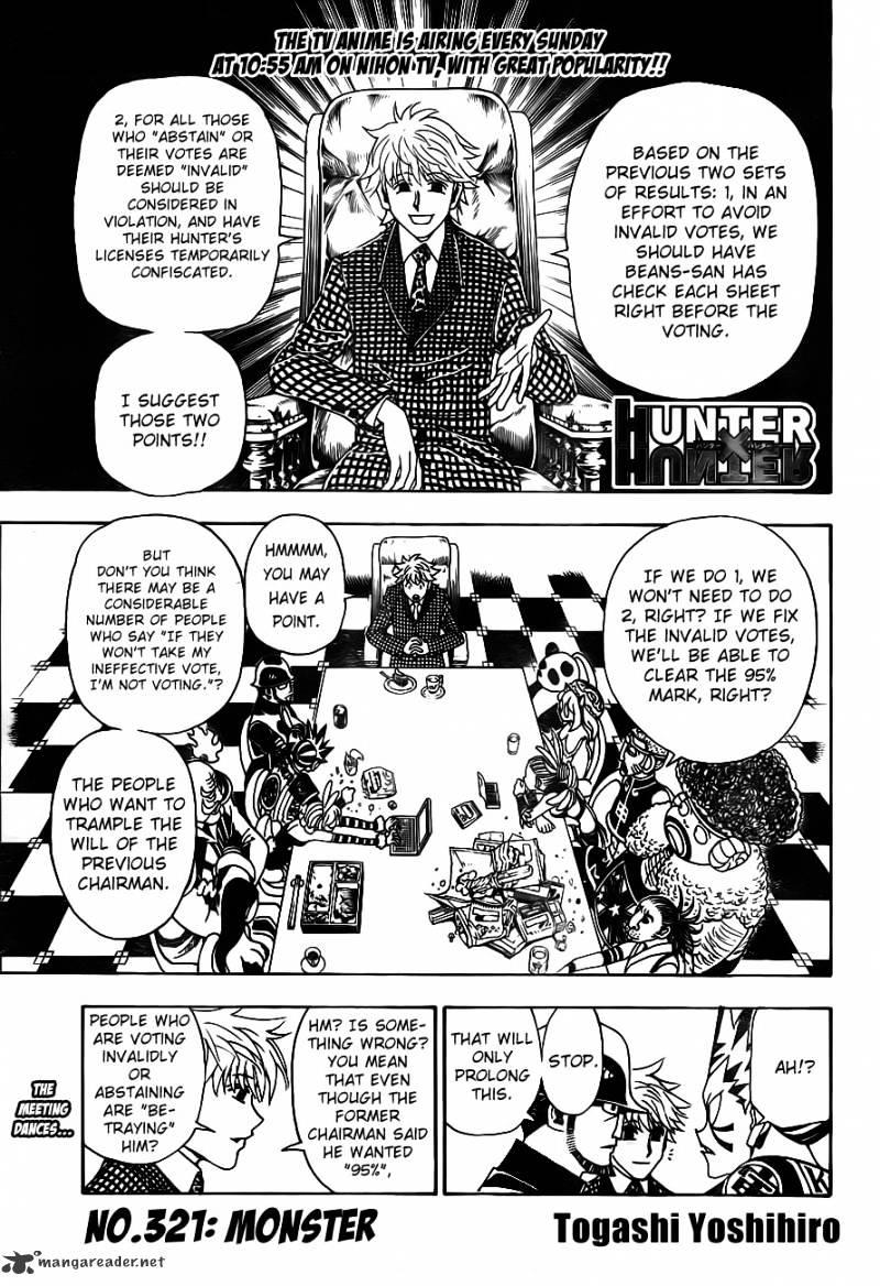 Hunter X Hunter Chapter 321  Online Free Manga Read Image 1