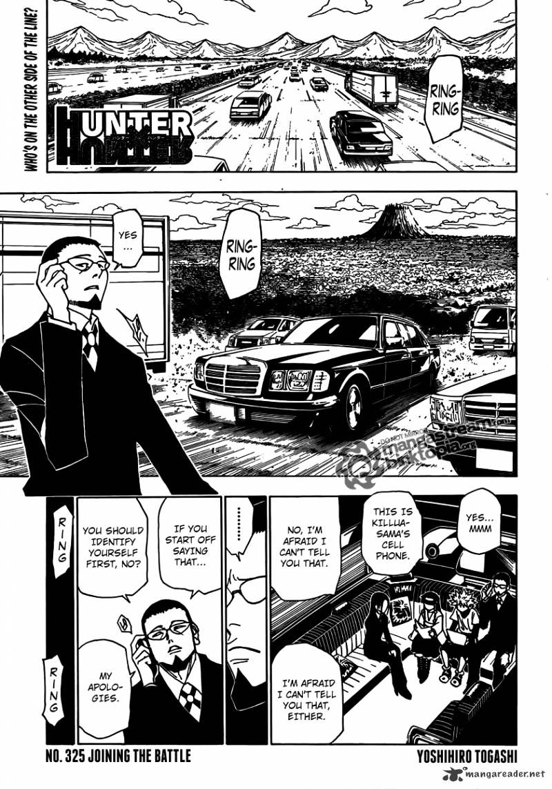 Hunter X Hunter Chapter 325  Online Free Manga Read Image 1