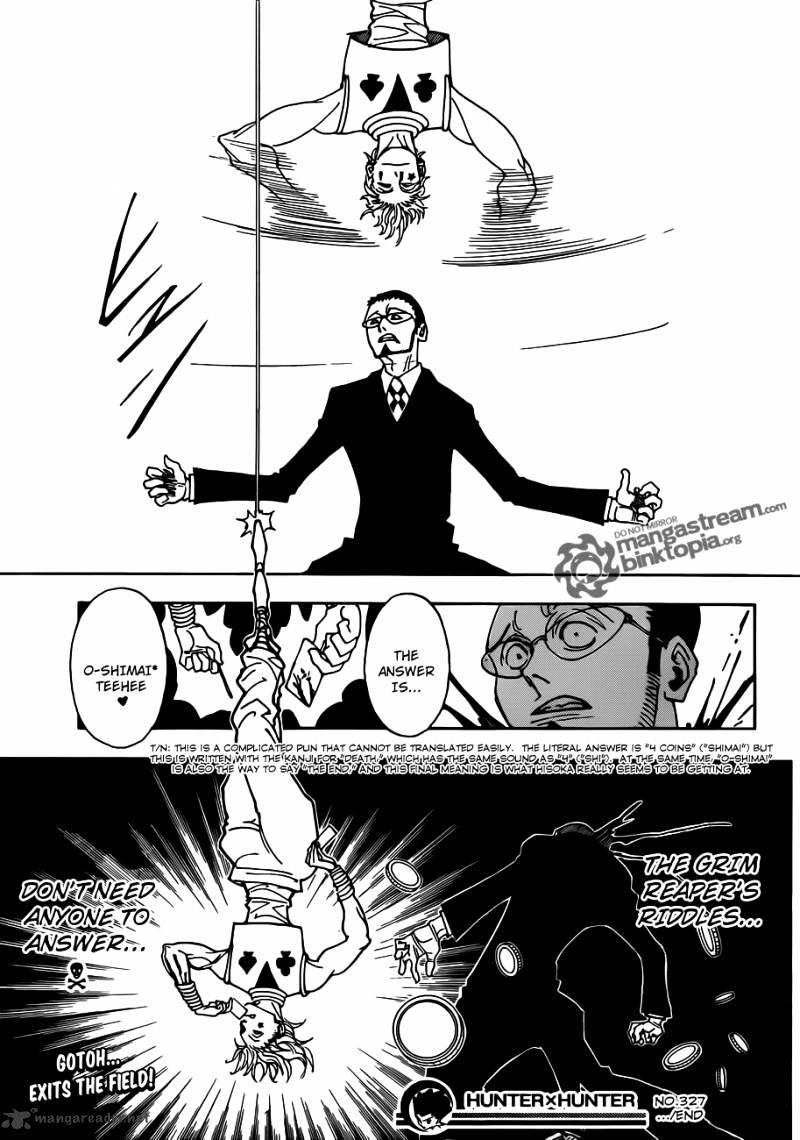 Hunter X Hunter Chapter 327  Online Free Manga Read Image 19