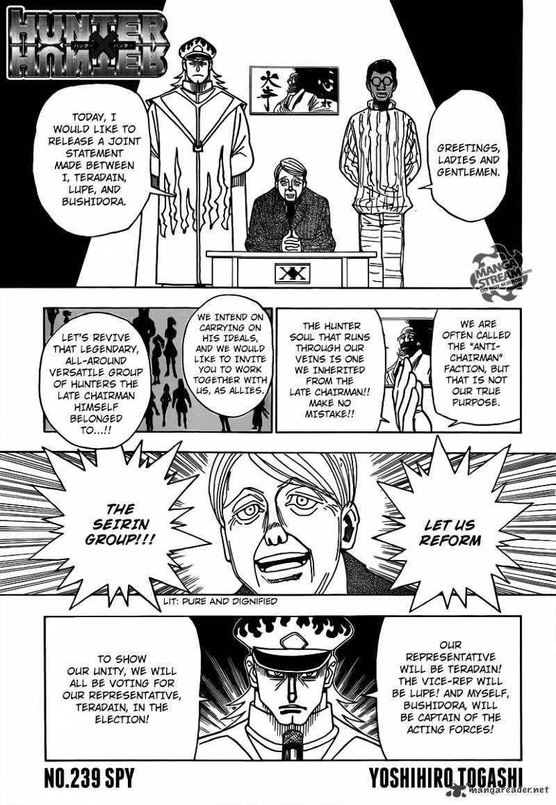 Hunter X Hunter Chapter 329  Online Free Manga Read Image 1