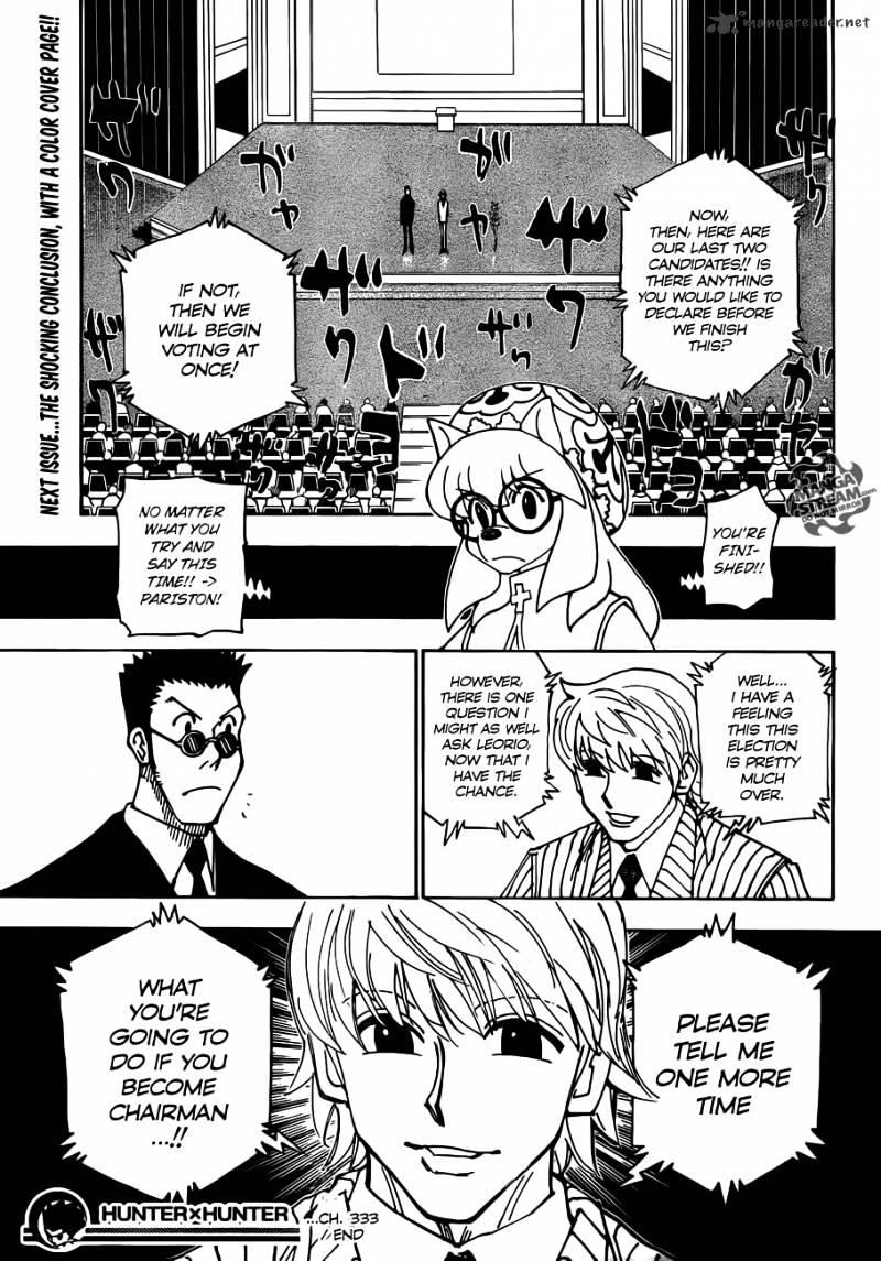 Hunter X Hunter Chapter 333  Online Free Manga Read Image 18
