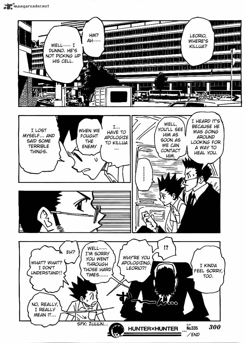 Hunter X Hunter Chapter 335  Online Free Manga Read Image 18