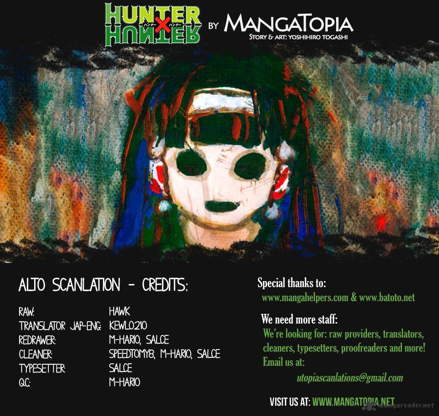 Hunter X Hunter Chapter 340  Online Free Manga Read Image 1
