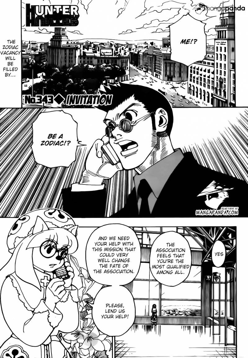 Hunter X Hunter Chapter 343  Online Free Manga Read Image 1