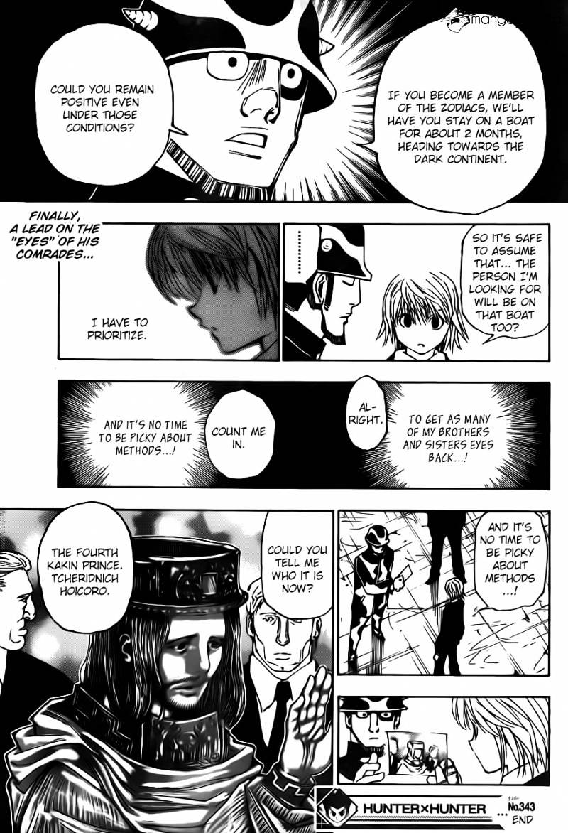 Hunter X Hunter Chapter 343  Online Free Manga Read Image 19