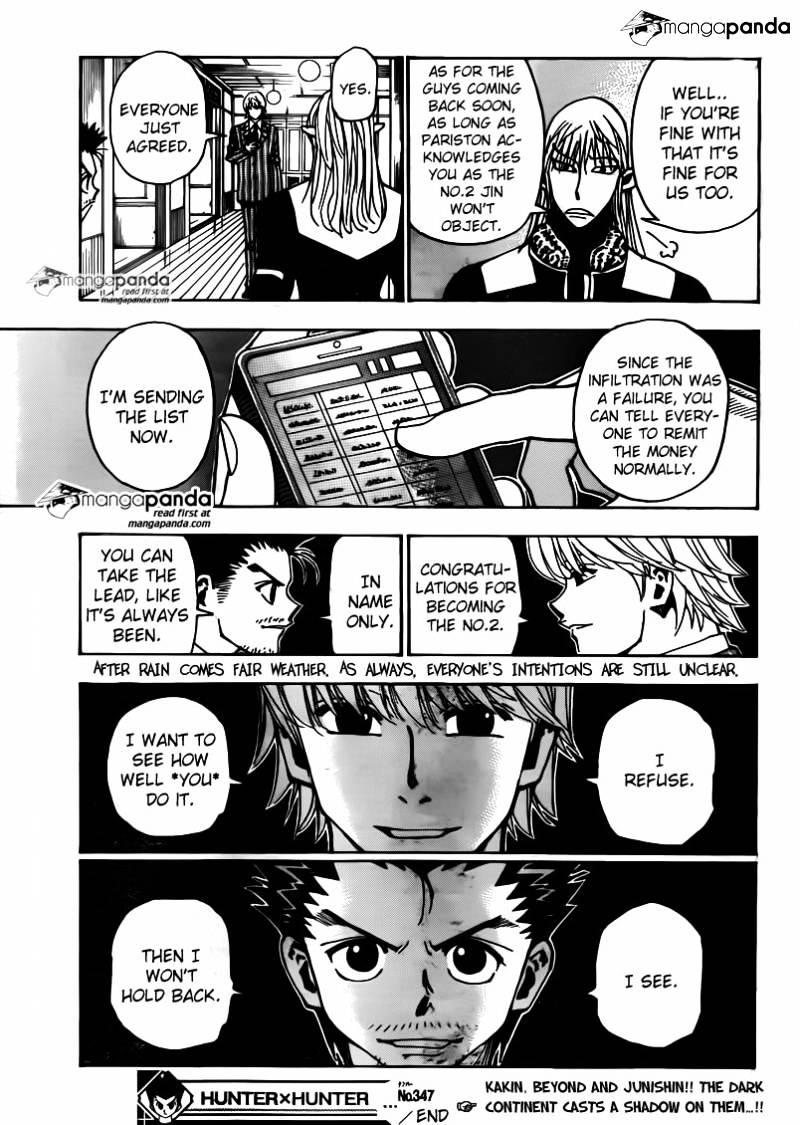 Hunter X Hunter Chapter 347  Online Free Manga Read Image 19