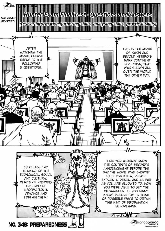 Hunter X Hunter Chapter 348  Online Free Manga Read Image 1