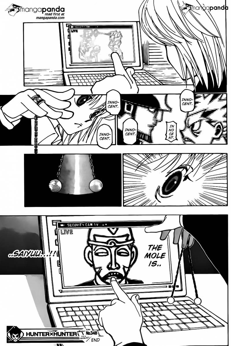 Hunter X Hunter Chapter 348  Online Free Manga Read Image 19