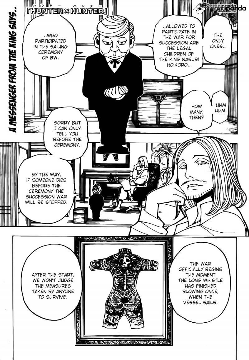 Hunter X Hunter Chapter 349  Online Free Manga Read Image 1