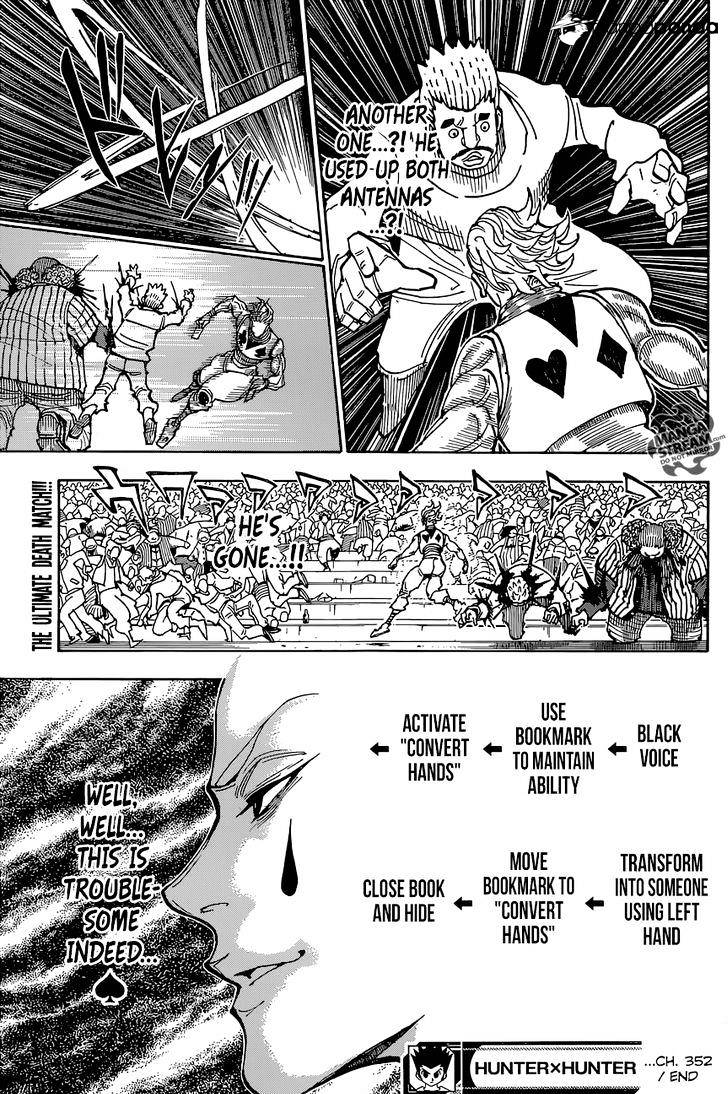 Hunter X Hunter Chapter 352  Online Free Manga Read Image 19