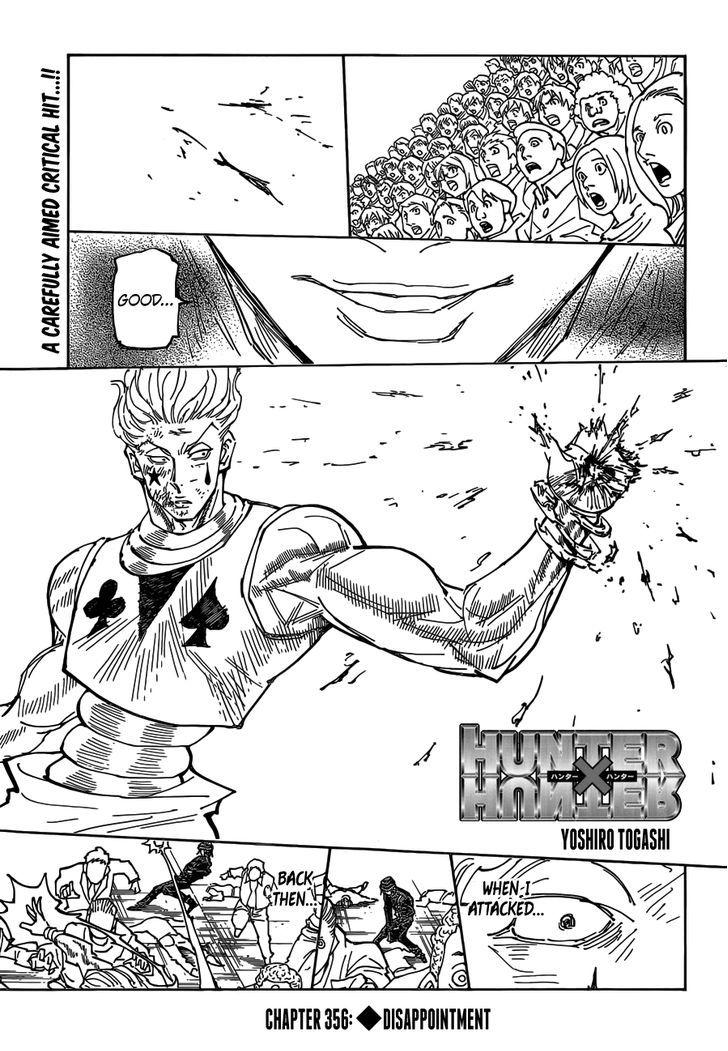 Hunter X Hunter Chapter 356  Online Free Manga Read Image 1