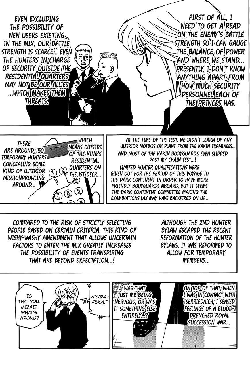 Hunter X Hunter Chapter 358  Online Free Manga Read Image 14