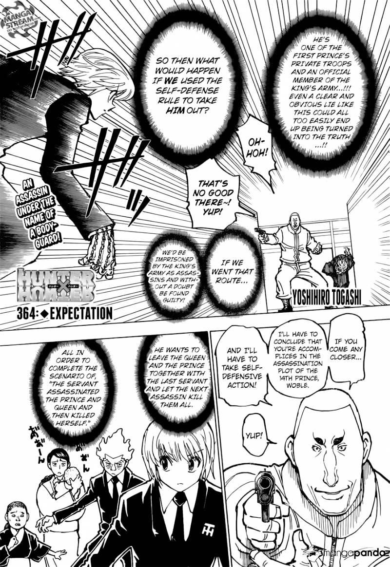 Hunter X Hunter Chapter 364  Online Free Manga Read Image 1