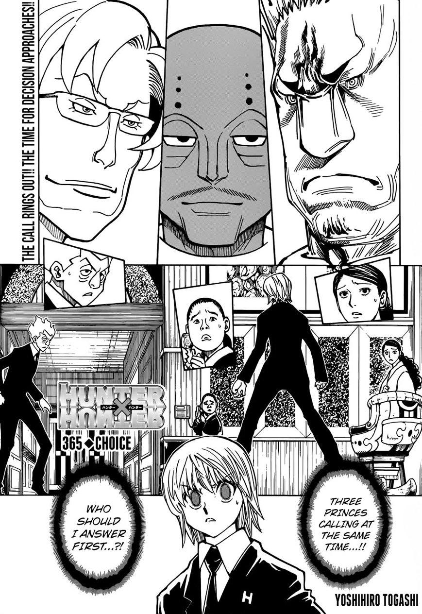 Hunter X Hunter Chapter 365  Online Free Manga Read Image 1