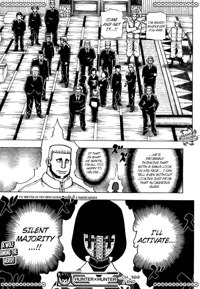 Hunter X Hunter Chapter 369  Online Free Manga Read Image 20