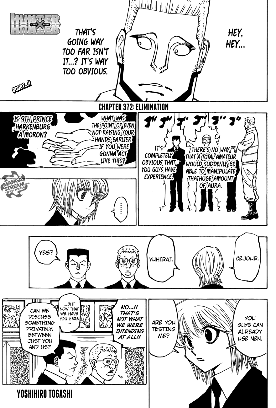 Hunter X Hunter Chapter 372  Online Free Manga Read Image 1