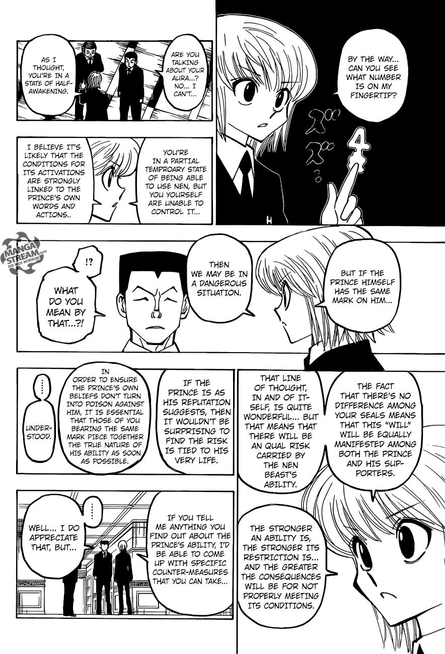 Hunter X Hunter Chapter 372  Online Free Manga Read Image 15