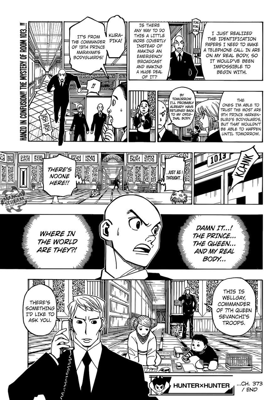 Hunter X Hunter Chapter 373  Online Free Manga Read Image 21