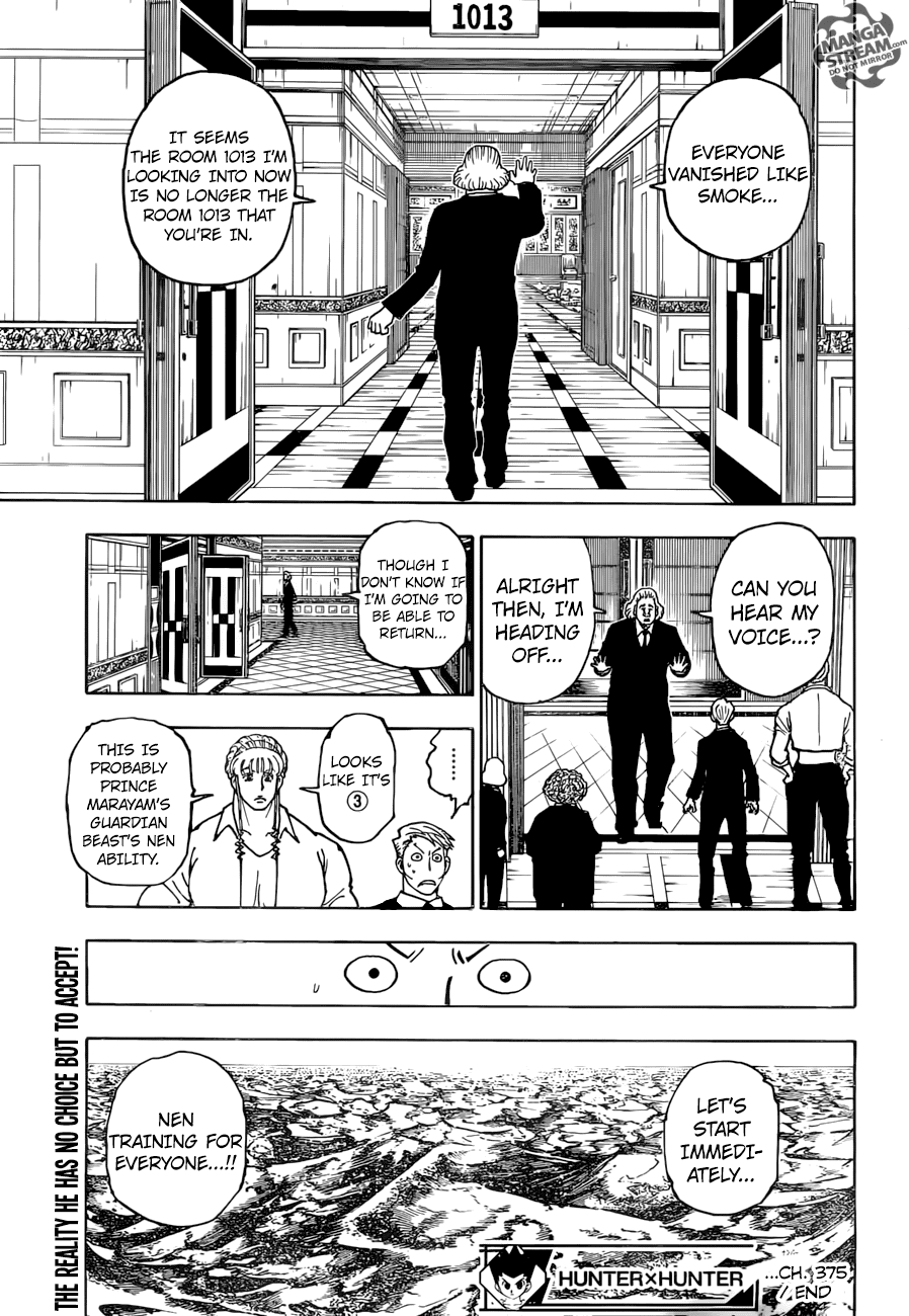 Hunter X Hunter Chapter 375  Online Free Manga Read Image 20