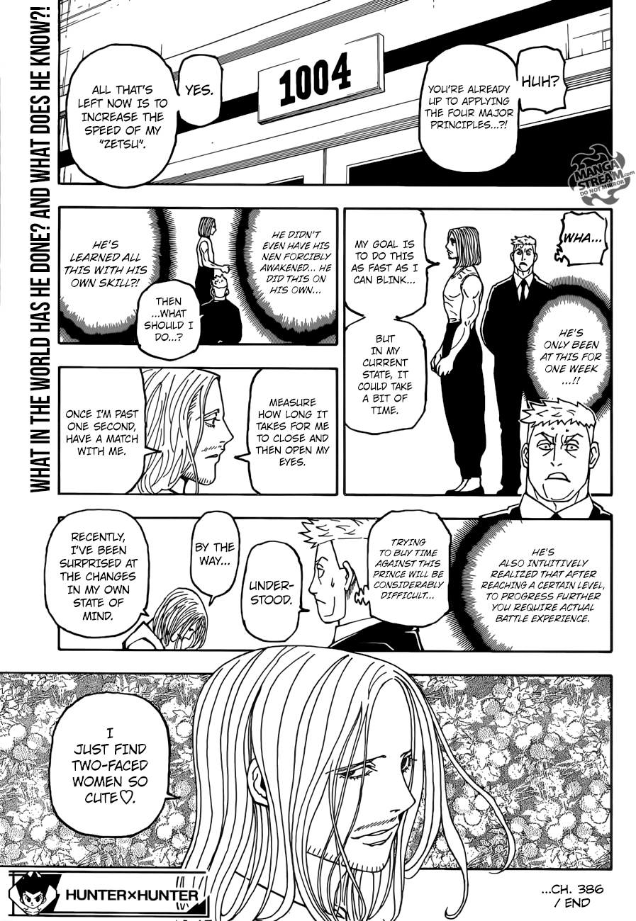 Hunter X Hunter Chapter 386  Online Free Manga Read Image 20