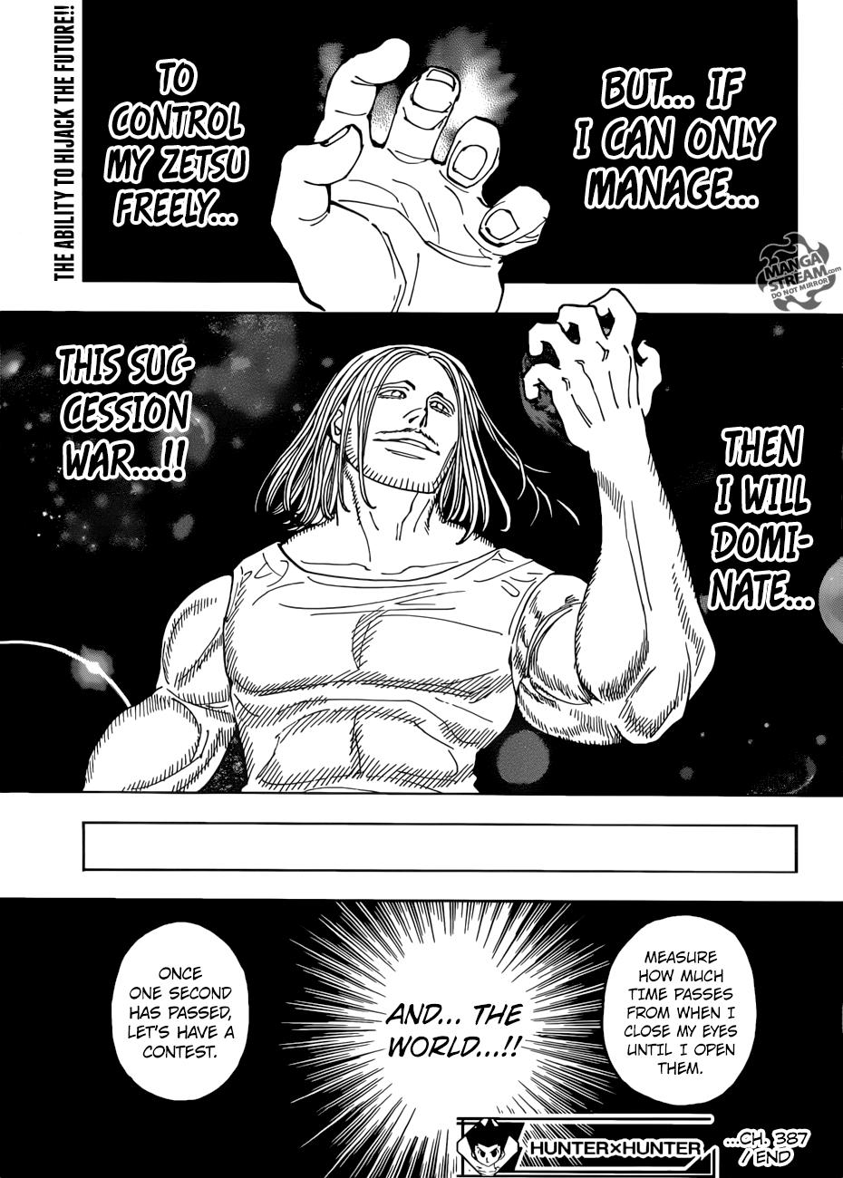 Hunter X Hunter Chapter 387  Online Free Manga Read Image 20