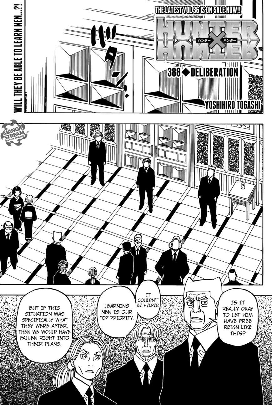 Hunter X Hunter Chapter 388  Online Free Manga Read Image 1
