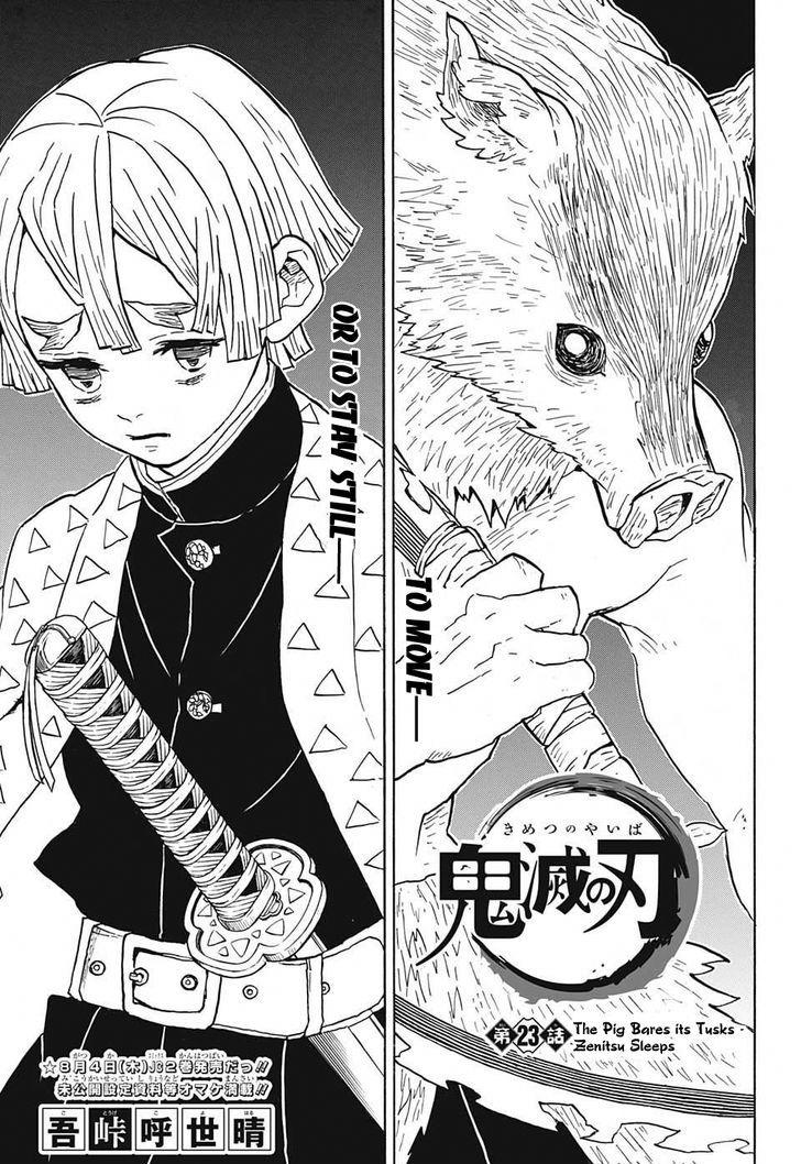 Kimetsu no Yaiba Chapter 23  Online Free Manga Read Image 1