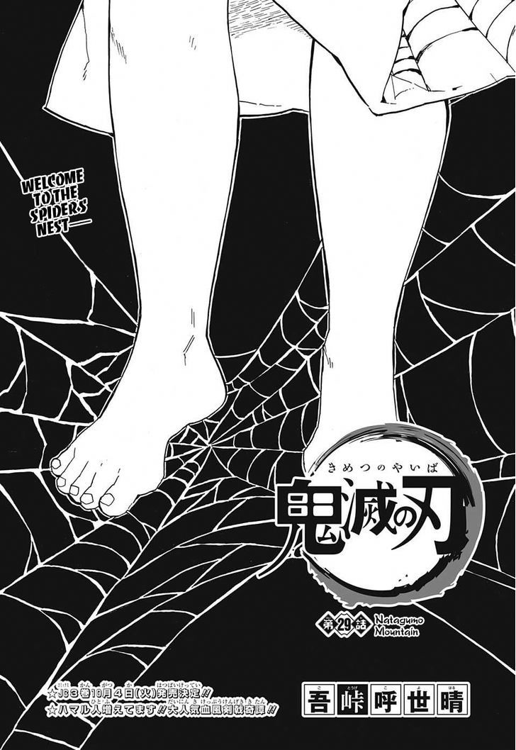 Kimetsu no Yaiba Chapter 29  Online Free Manga Read Image 1
