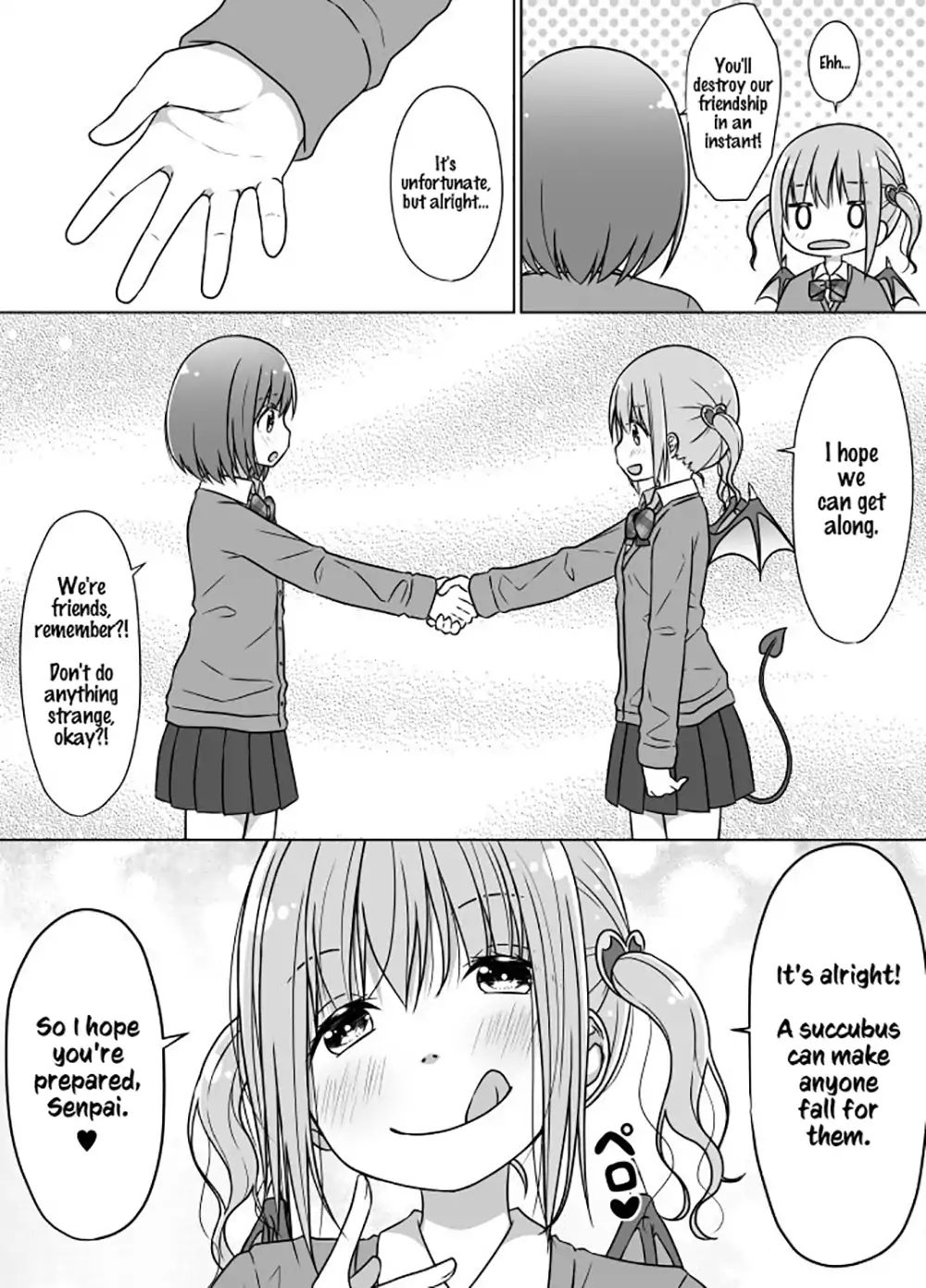 Senpai Doesnt Want To Fall For Her Kouhai Chapter 1  Online Free Manga Read Image 4