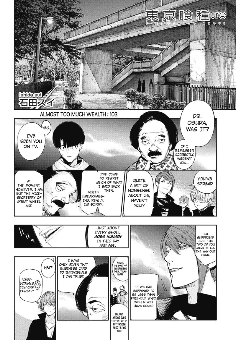 Tokyo Ghoulre Chapter 103  Online Free Manga Read Image 3