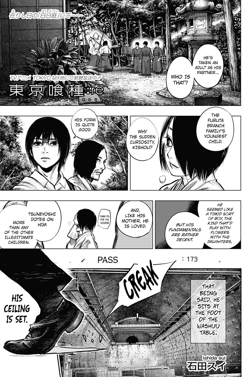 Tokyo Ghoulre Chapter 173  Online Free Manga Read Image 2
