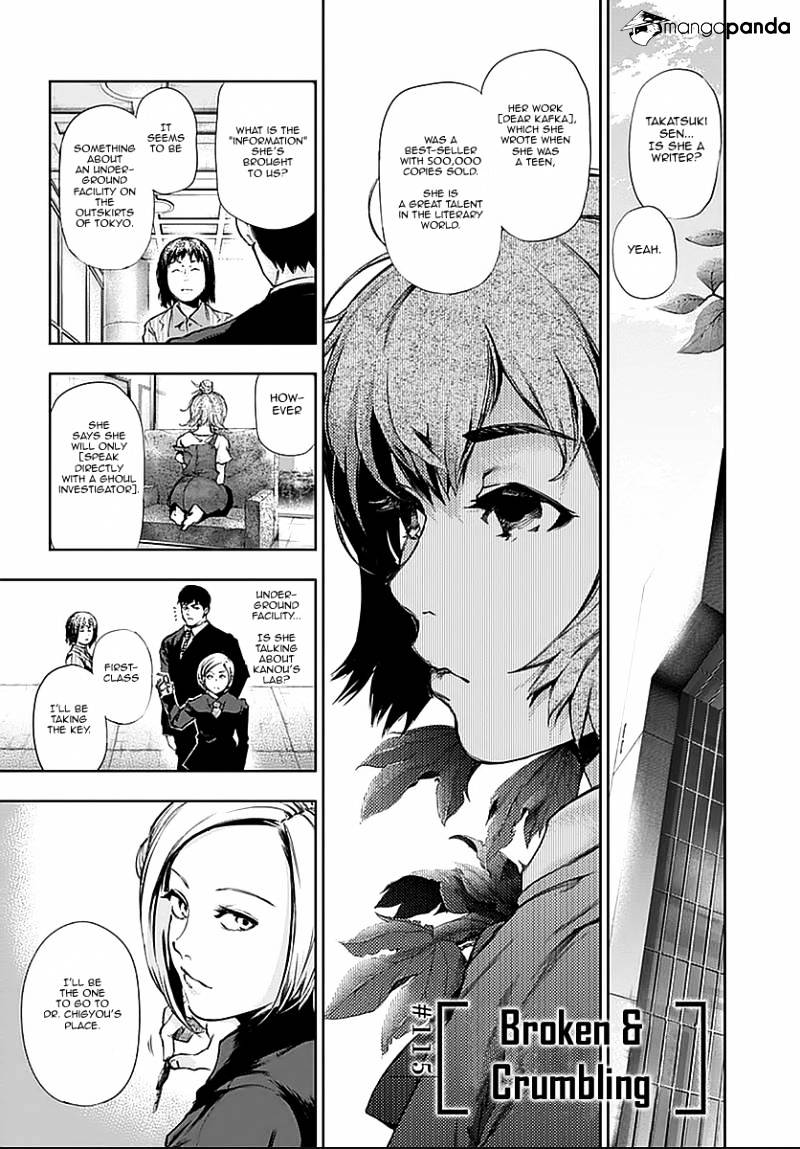 Tokyo Ghoul Chapter 115  Online Free Manga Read Image 1